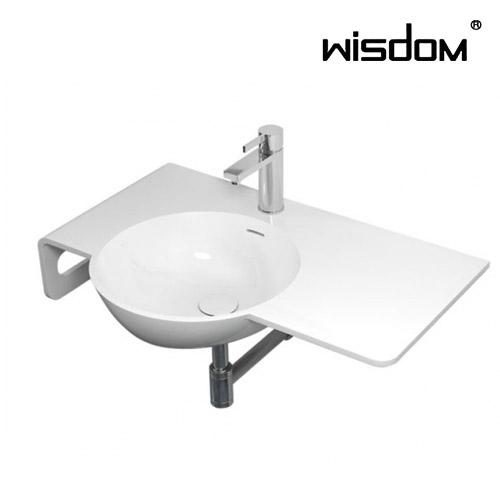 [WISDOM] 벽걸이세면기 WD-38298L(좌볼)