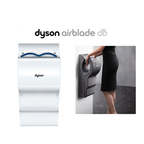 [DYSON] 벽걸이 삽입형 핸드드라이어 AB14 - dB (White)