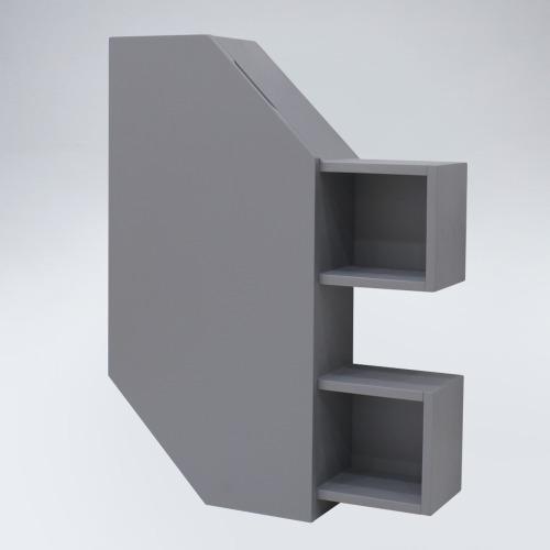 폴라 원목 욕실장(연그레이)