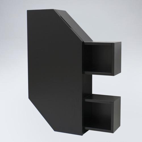 폴라 원목 욕실장(블랙)