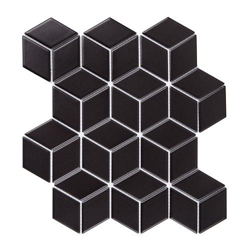 [US-REGNO] 모자이크타일 CB-BLACK규격:267X309수량:12매/0.992㎡재질:포세린