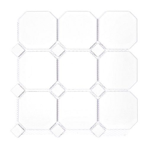 [US-REGNO] 모자이크타일 GBD-WHITE & WHITE규격:300X300수량:11매/0.99㎡재질:포세린