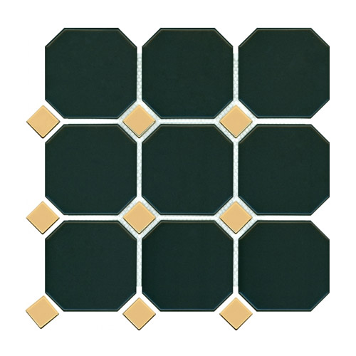 [US-REGNO] 모자이크타일 GBD-DEEP GREEN & GOLD규격:300X300수량:11매/0.99㎡재질:포세린
