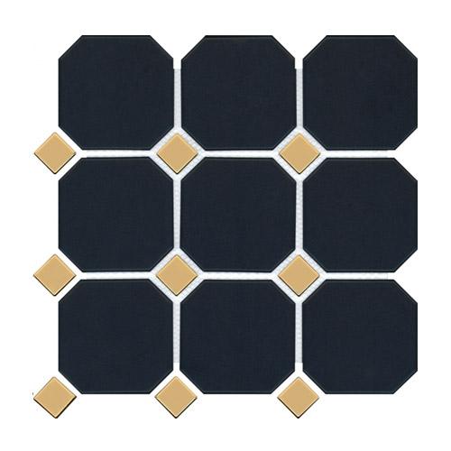 [US-REGNO] 모자이크타일 GBD-NAVY & GOLD규격:300X300수량:11매/0.99㎡재질:포세린