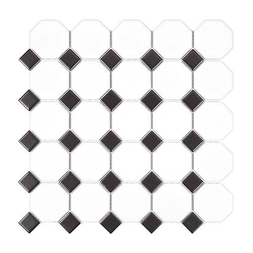 [US-REGNO] 모자이크타일 SGB-WHITE & BLACK규격:295X295수량:11매/0.957㎡재질:포세린