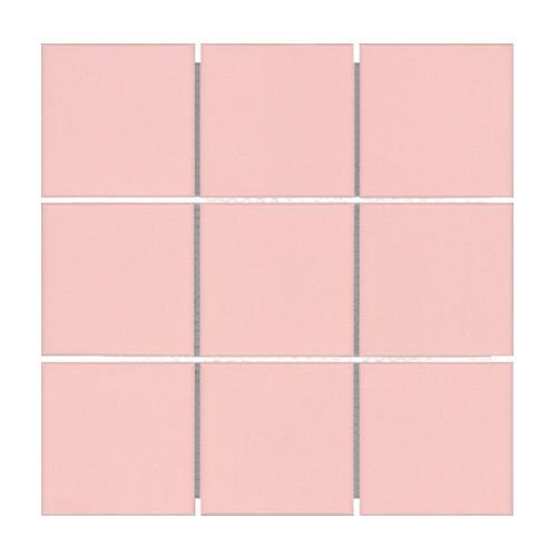 [US-REGNO] 모자이크타일 SHP-BABY PINK규격:300X300수량:11매/0.99㎡재질:포세린