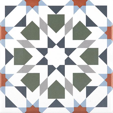 [US-REGNO] 패턴타일 PT-KALLEIDO ORANGE규격:200X200수량:25매/1㎡재질:포세린