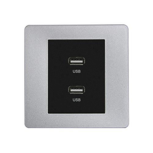 [우연티엔이] 유럽형 콘센트 1구-USB충전 [BSBK1_B]
