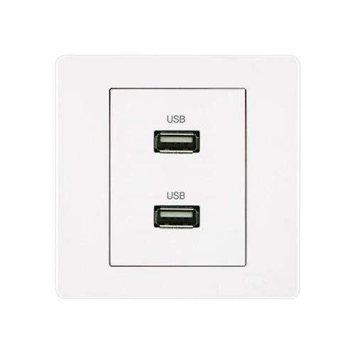 [우연티엔이] 유럽형 콘센트 1구-USB충전 [BSW1_B]